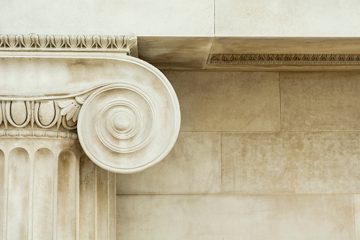 istock Decorative detail of an ancient Ionic column 983430356