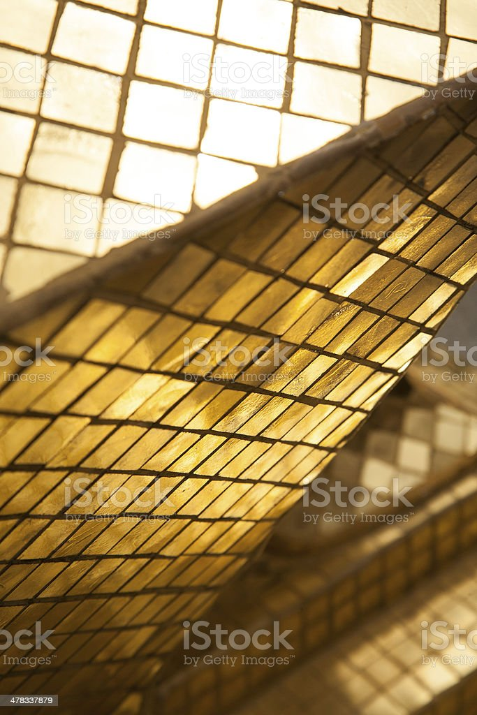 Decorative detail of golden pagoda in Wat phra keaw royalty-free stock photo