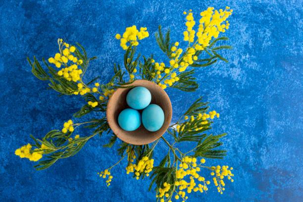 Decorative easter eggs next to mimosa flower dark blue background picture id1215092772?b=1&k=6&m=1215092772&s=612x612&w=0&h=ihzsm3seezciyyupnmaoiraxjqjwfgj1md5qshfg9gw=