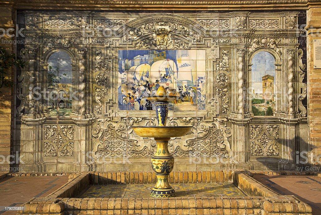 Decorative Feature At The Palaza de Espana Sevilla royalty-free stock photo