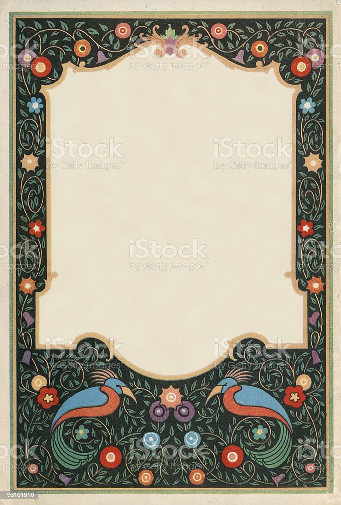 Decorative frame royalty-free stock photo