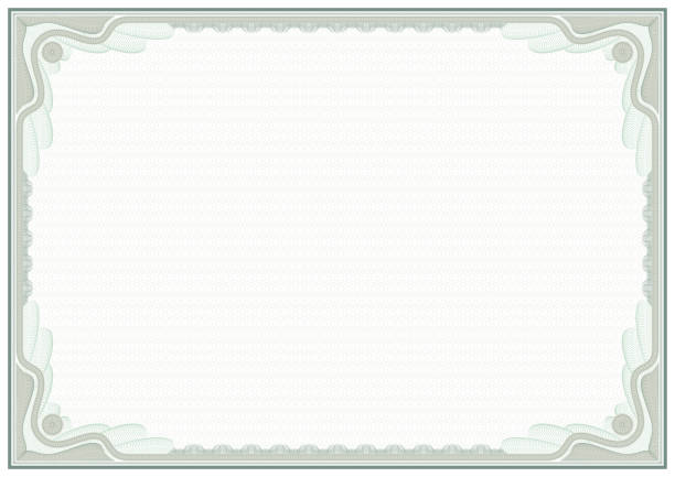 decorative framework for awards, certificates and securities. a3 page. guilloches, tangier grid. - guilloche stock photos and pictures