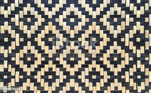 Close up decorative geometric bamboo weave pattern texture background