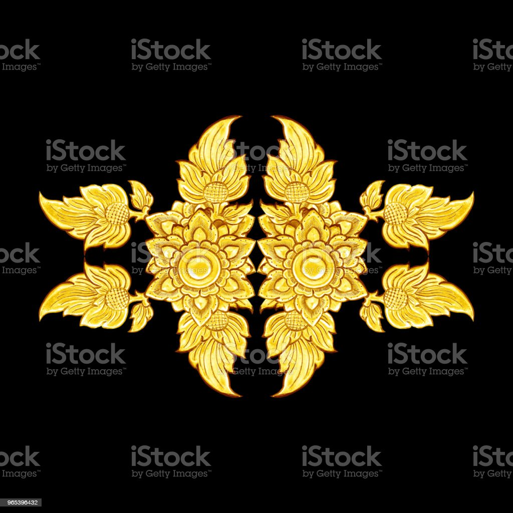 decorative gold frame isolated on black  background royalty-free stock photo