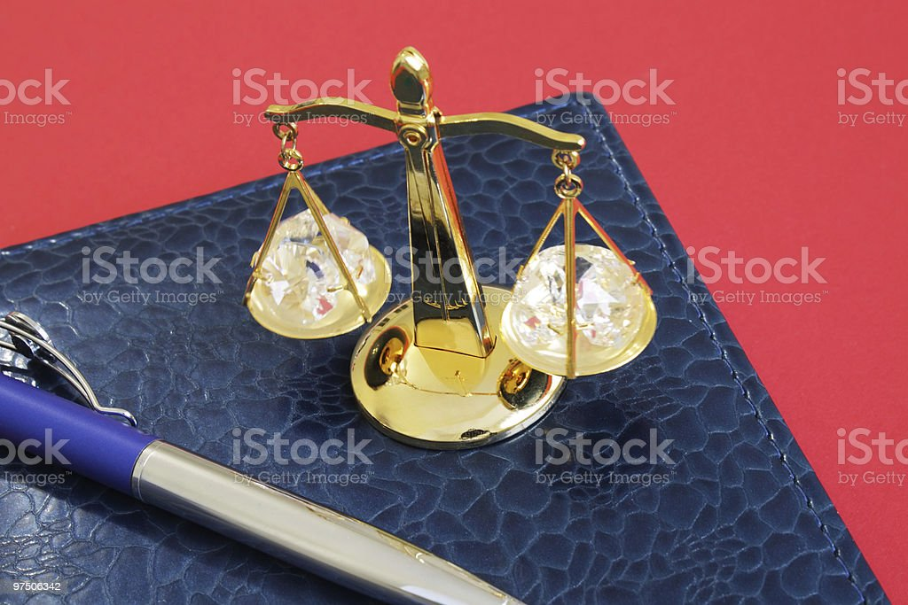 Decorative gold scales royalty-free stock photo