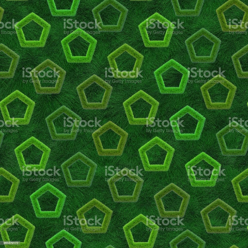 Decorative grass shapes background. Seamless pattern. royalty-free stock photo