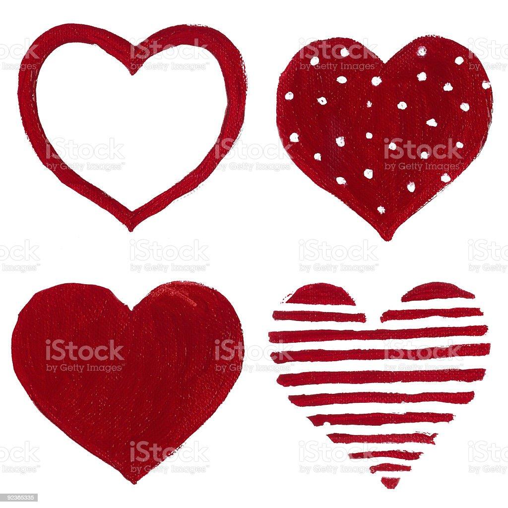 decorative hearts royalty-free stock photo