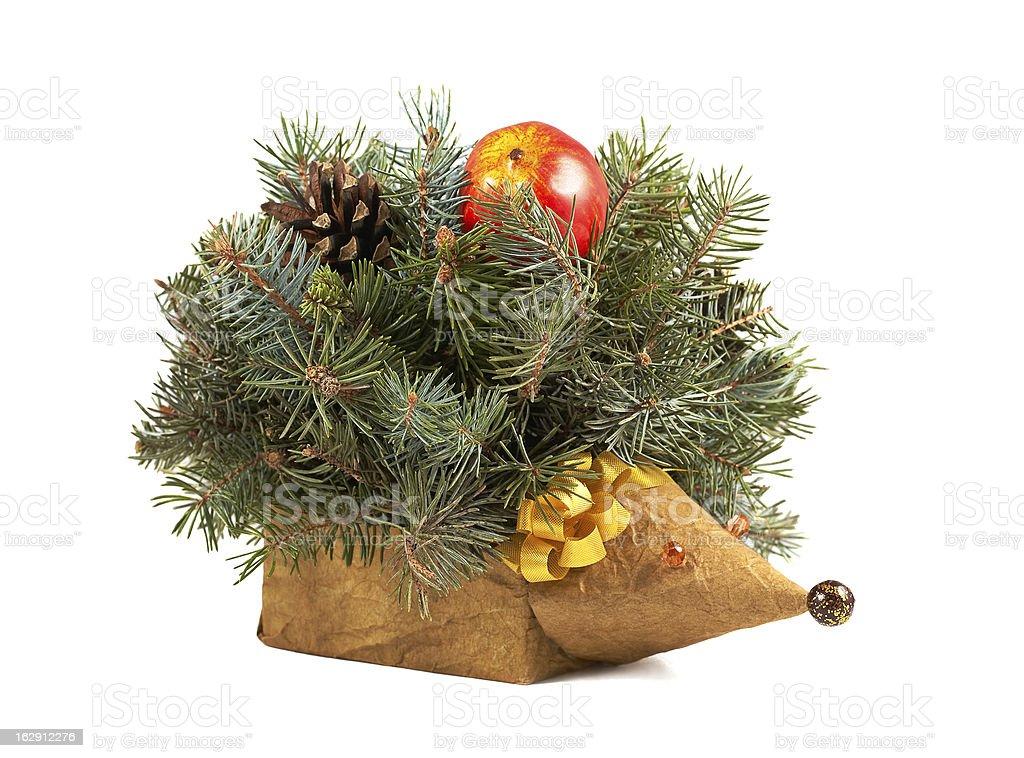 Decorative hedgehog isolated royalty-free stock photo