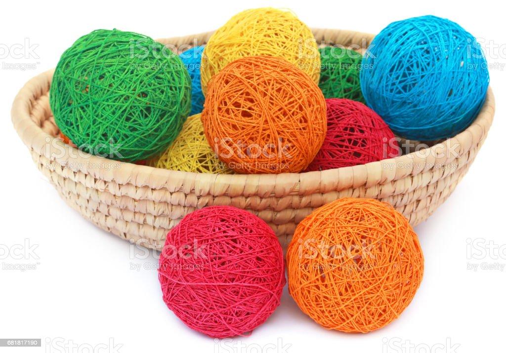 Decorative hollow thread rolls stock photo
