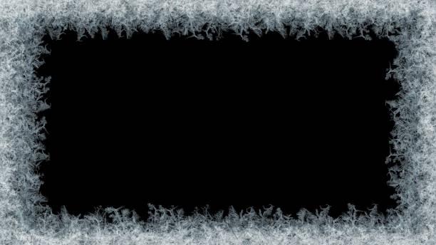 무광택 검은색에 장식 얼음 크리스탈 프레임 - 서리 뉴스 사진 이미지