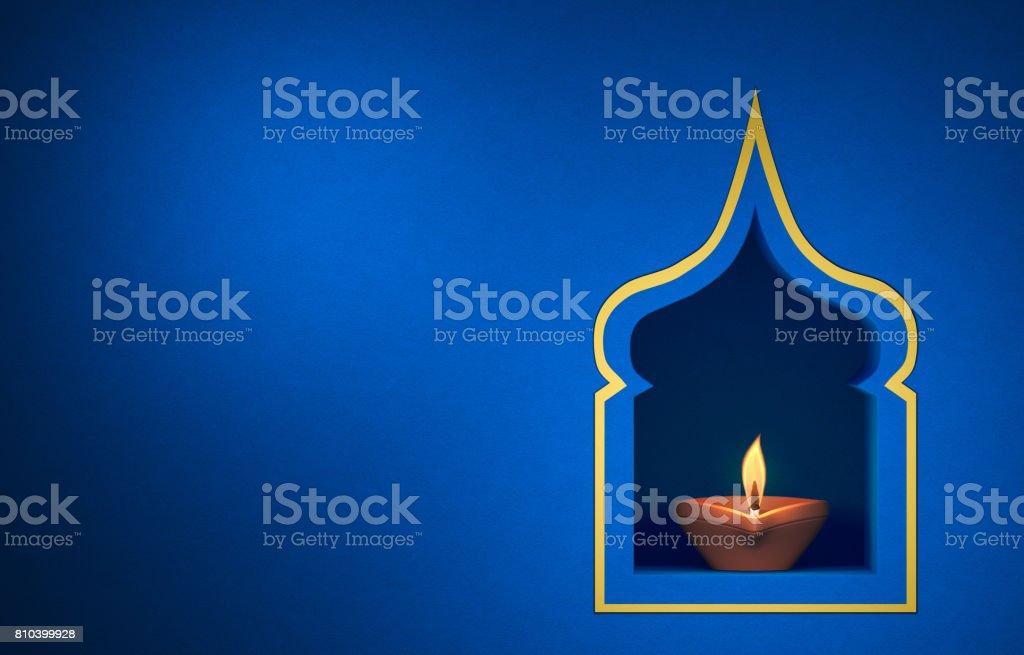 Lâmpada decorativa óleo tradicional indiano - foto de acervo
