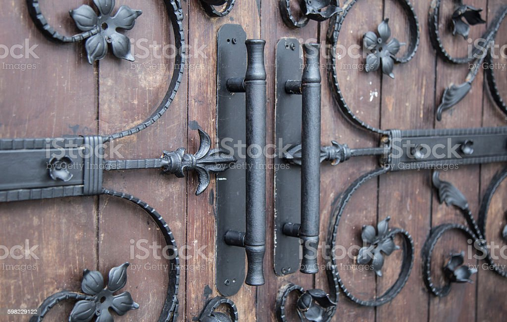 Decorative iron details in gothic style foto royalty-free