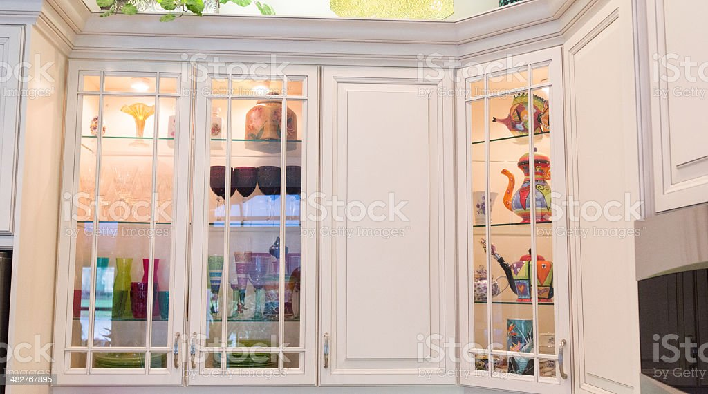 Decorative Kitchen Cabinets In A Contemporary Home Stock Photo Download Image Now Istock