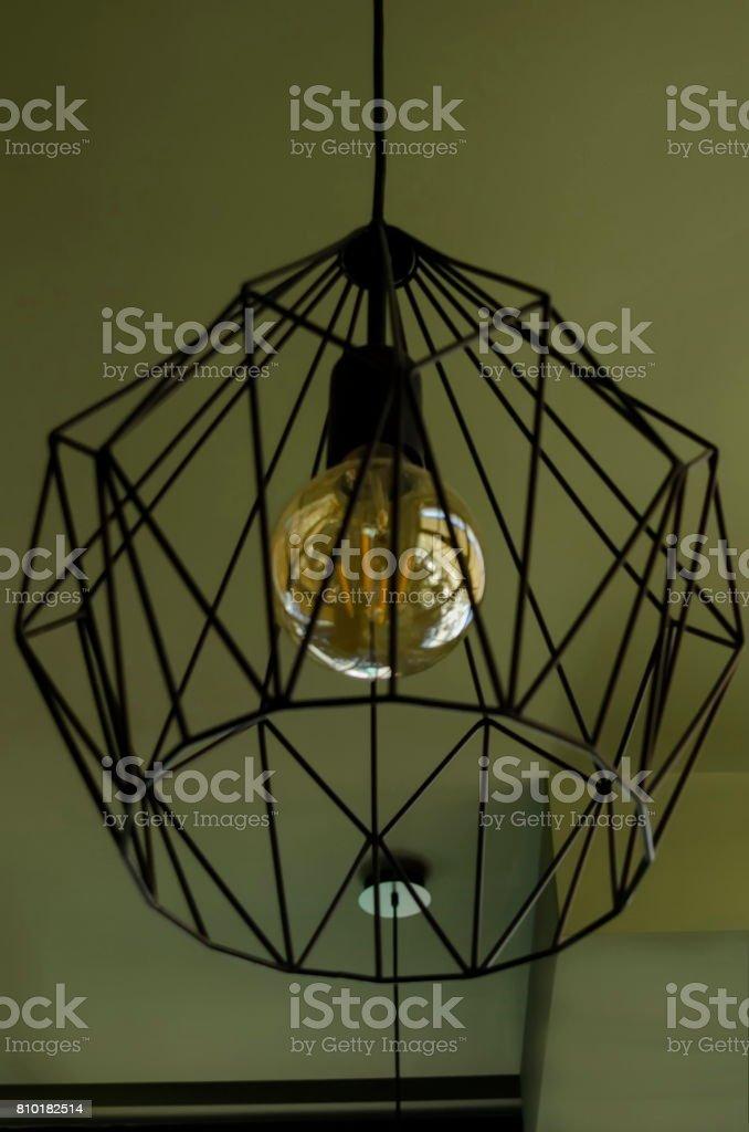 Dekorative Lampenschirm Oder Kronleuchter Aus Metall Und Lampe Im ...