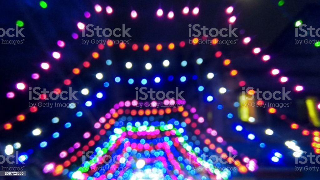 Decorative Led Lights for Festival stock photo