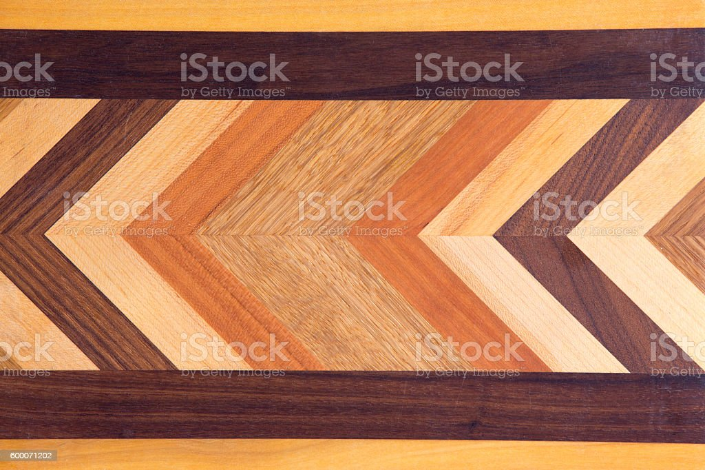 Decorative marquetry on a cutting board stock photo
