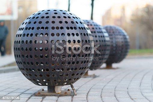 istock decorative metal balls with holes 675278206