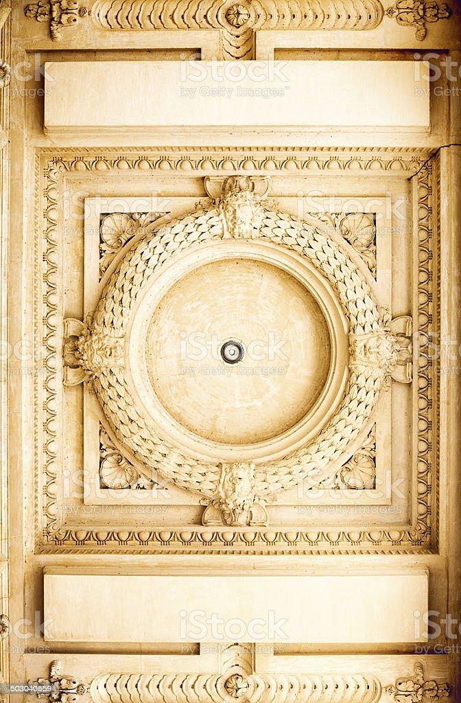 Decorative mouldings stock photo