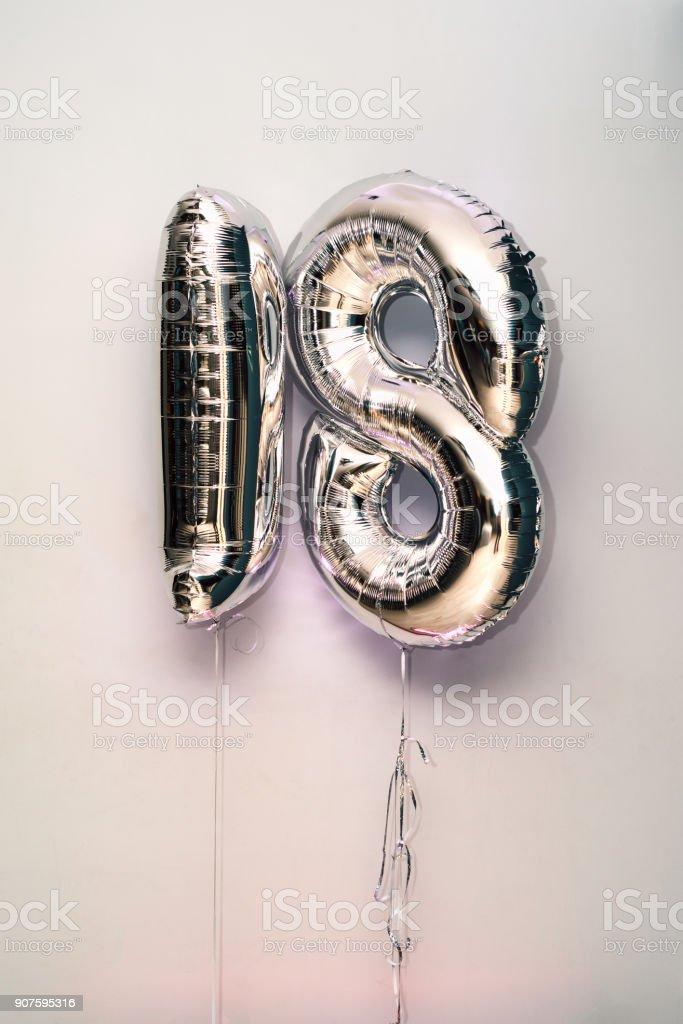 decorative number 18 for birthdays – zdjęcie
