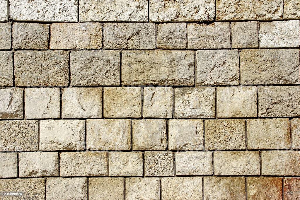 Decorative Old Limestone Wall stock photo