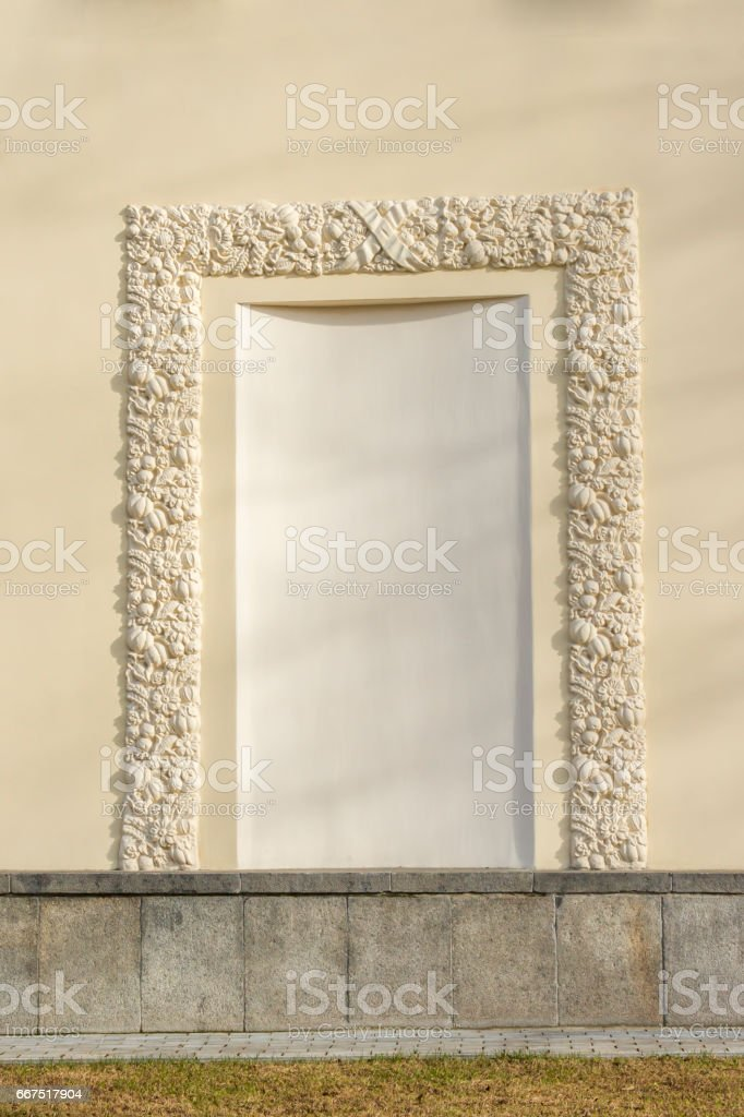Decorative ornament on the wall. Stone carving foto stock royalty-free