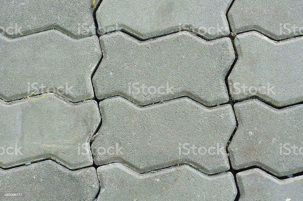 decorative pavers pattern stock photo