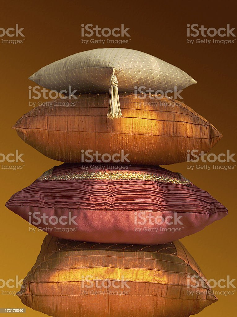 decorative pillows royalty-free stock photo