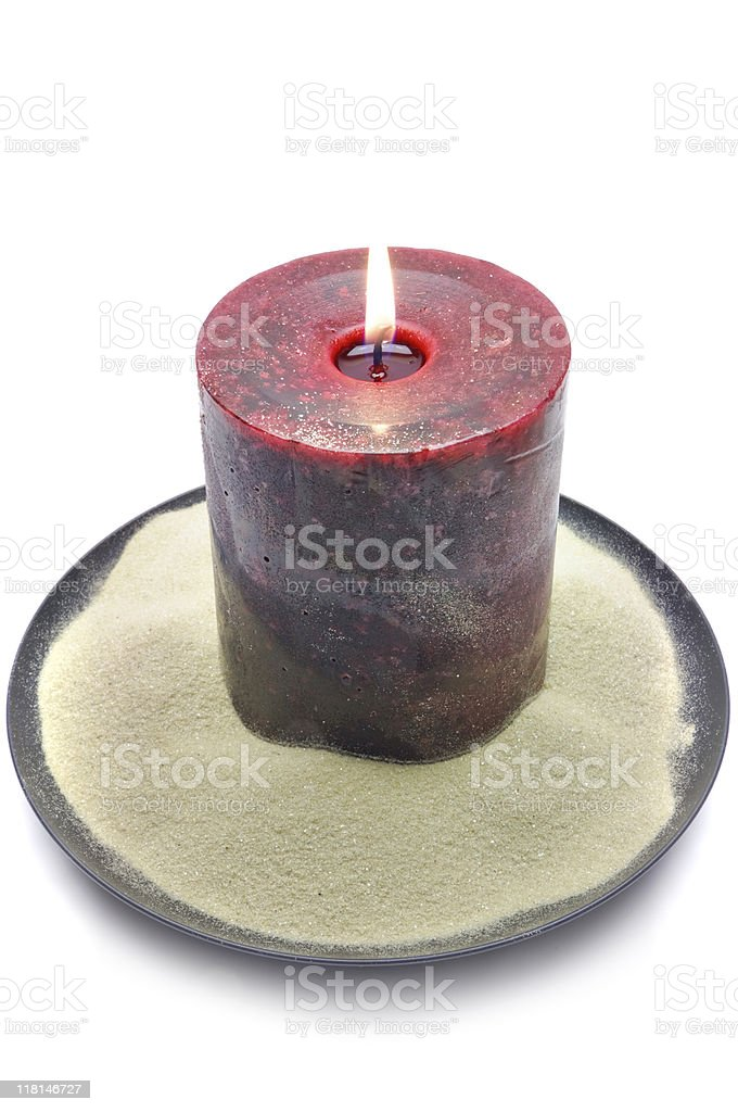Decorative Sand Candle royalty-free stock photo
