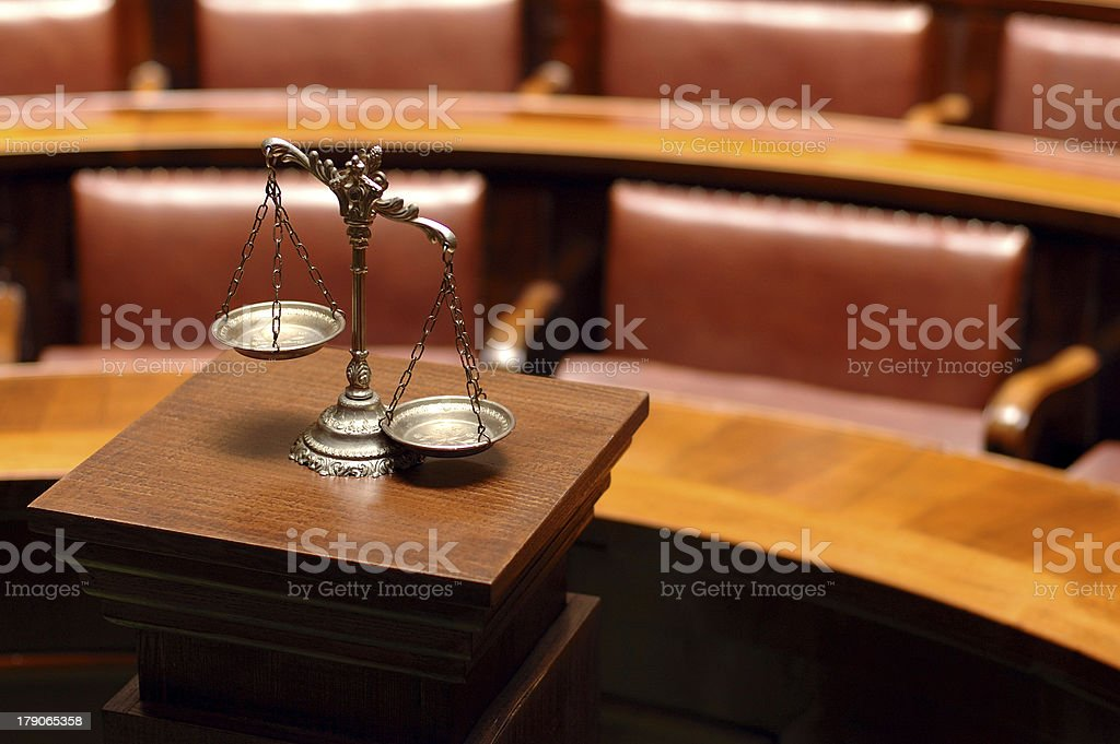 Decorative Scales of Justice royalty-free stock photo