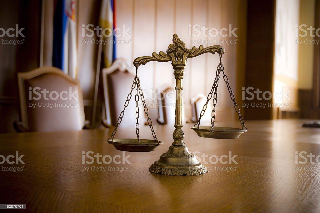 Dekorative Waage der Gerechtigkeit - Lizenzfrei Alt Stock-Foto