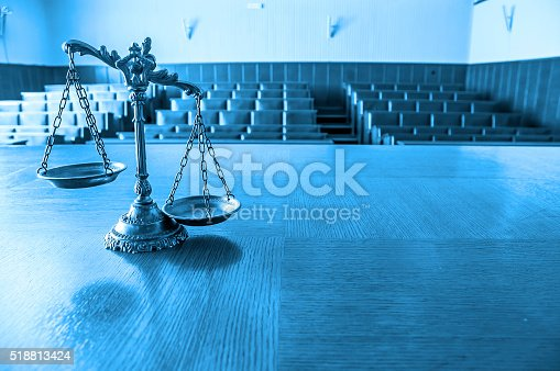 istock Decorative Scales of Justice 518813424