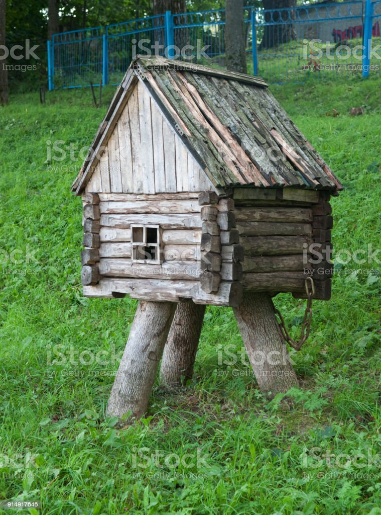 Decorative Small Wooden Hut For Garden Decoration Royalty Free Stock Photo