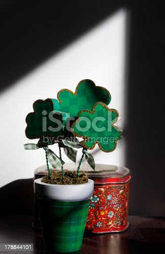 Decorative St  Patrick's Day clover display