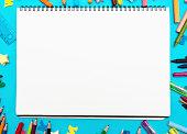 装飾用文房具ボーダーラウンド sketchbook 空白のメッセージ