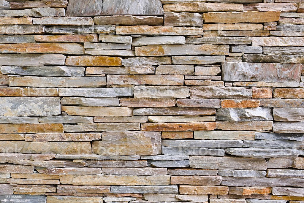 delightful Decorative Stone Wall Part - 16: Decorative stone wall surfaces - Stock image .