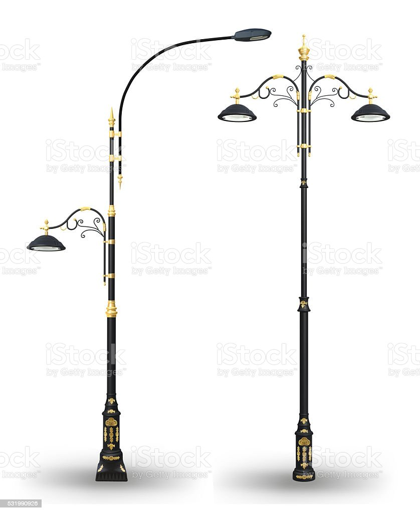Decorative Street Lamp Post Set stock photo | iStock for Street Lamp Post Design  166kxo