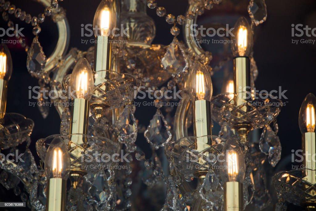 Decorative  style filament light bulbs stock photo