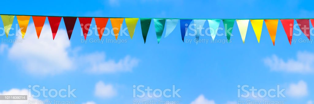 decorative summer background panorama stock photo