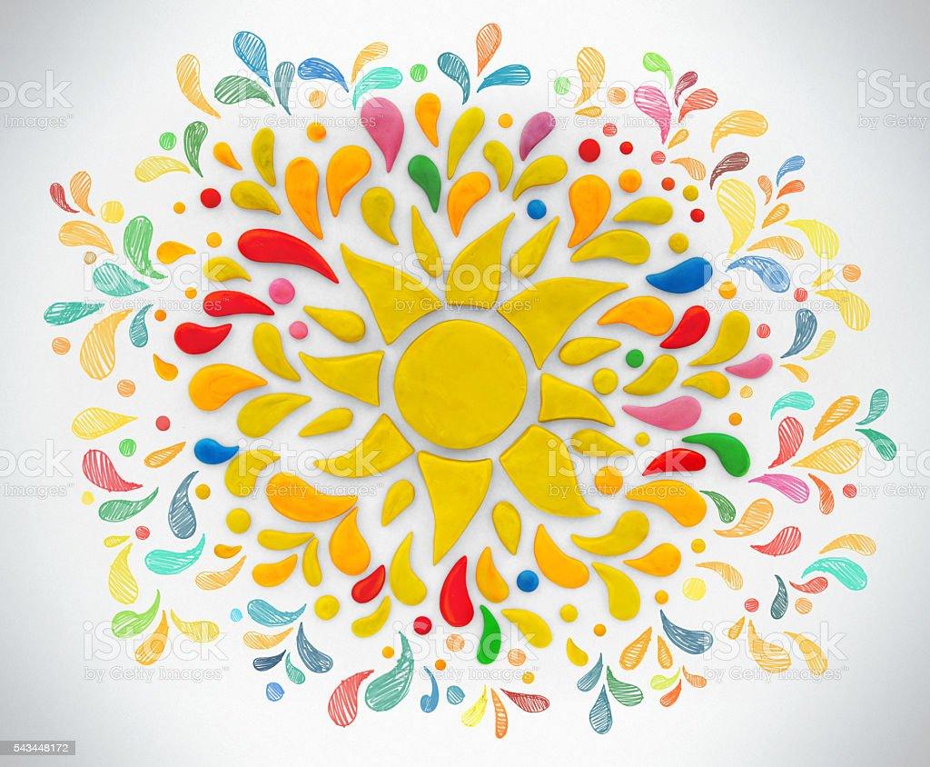 Decorative sun. stock photo