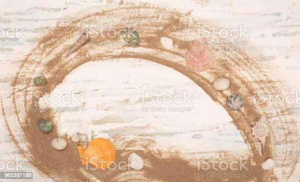 Foto de Decorativo Redemoinho De Areia Com Conchas Do Mar e mais fotos de stock de Animal