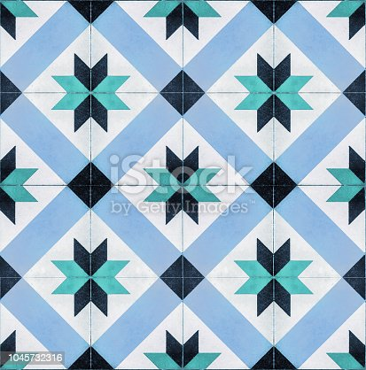 Decorative tegel tiles seamless texture