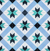 Decorative tegel tiles seamless texture