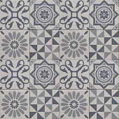 decorative tile pattern , geometric patchwork design