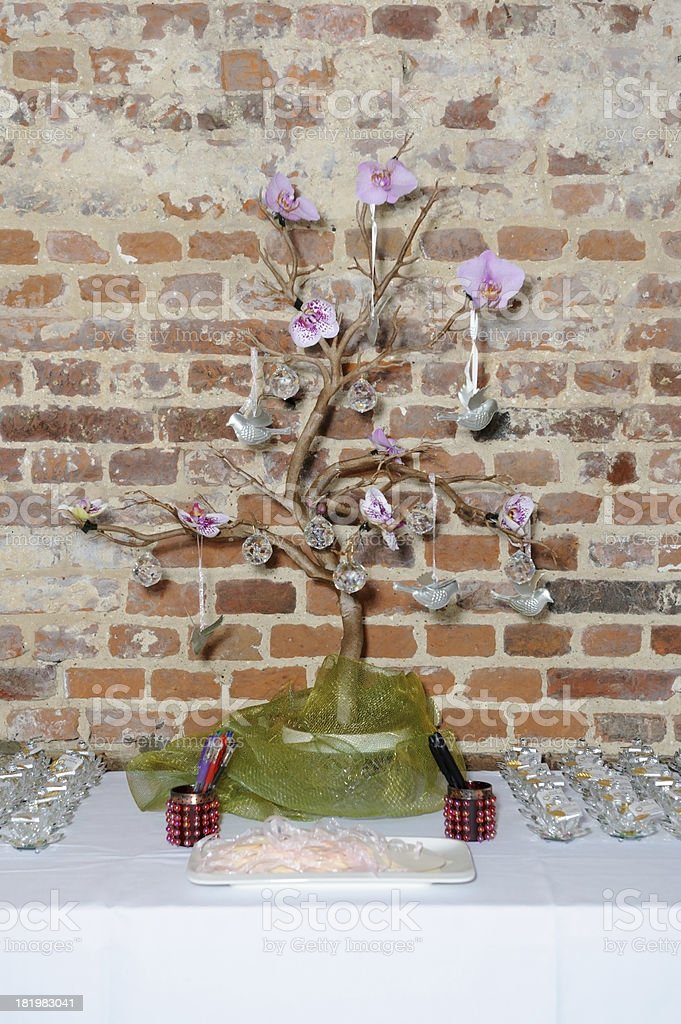 Decorative tree at wedding royalty-free stock photo