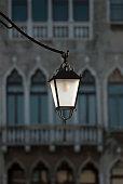 Decorative Venice street light in italy