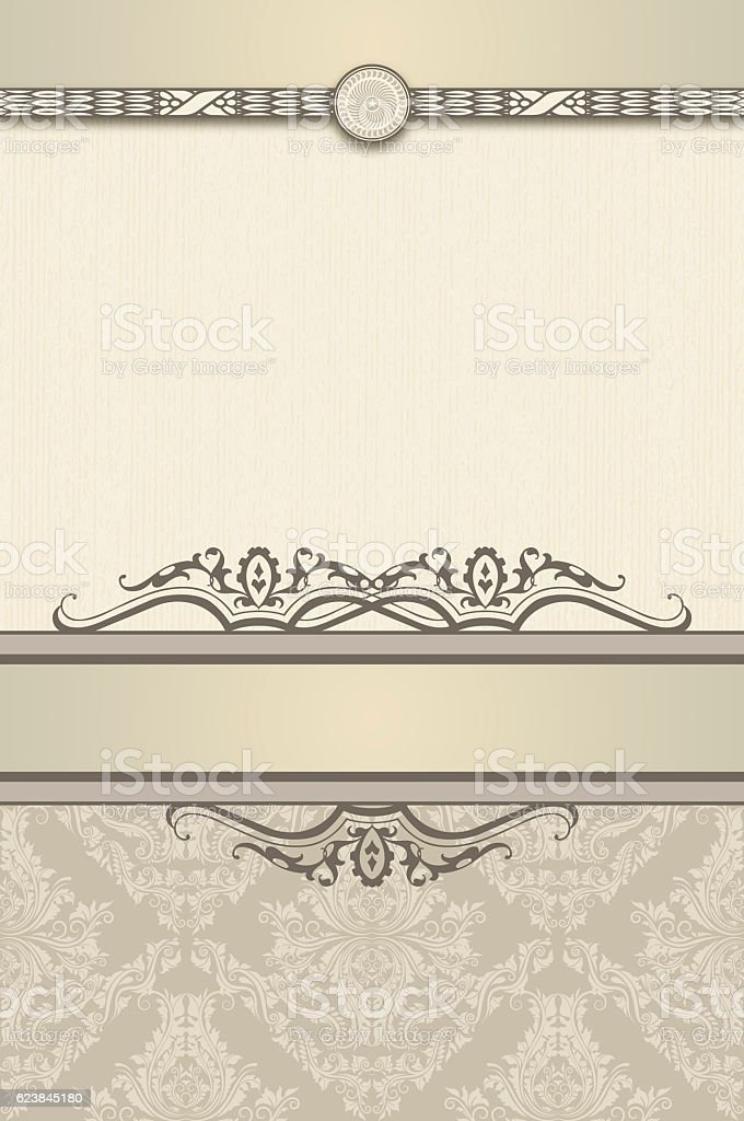 Decorative vintage background for the text. stock photo