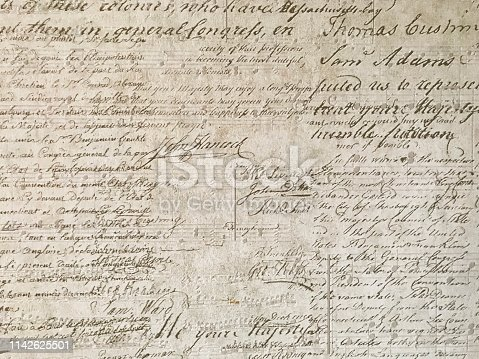 istock Decorative wallpaper texture with ancient scripts 1142625501