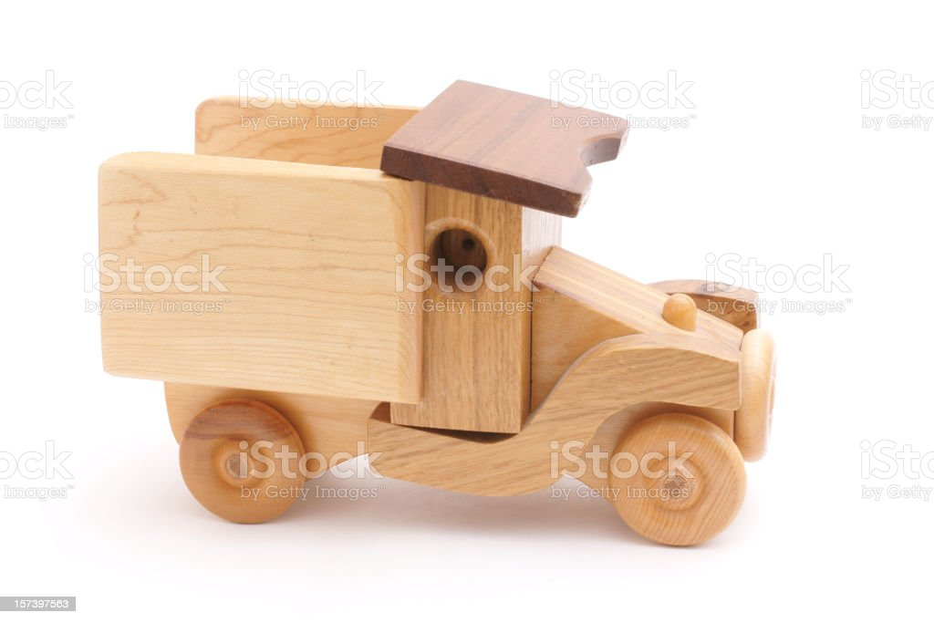 decorative wooden toy truck royalty-free stock photo