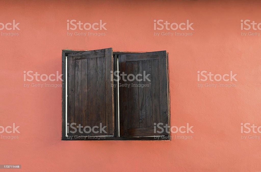 decorative wooden window royalty-free stock photo