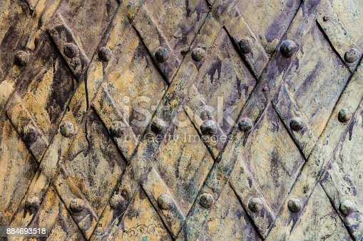 istock Decorative wrought iron security 884693518